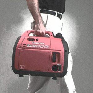 man holds a generator