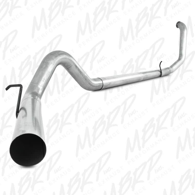 MBRP Aluminized 4″ Single Turbo Back Exhaust System – Performance Series – No Muffler – S6200PLM