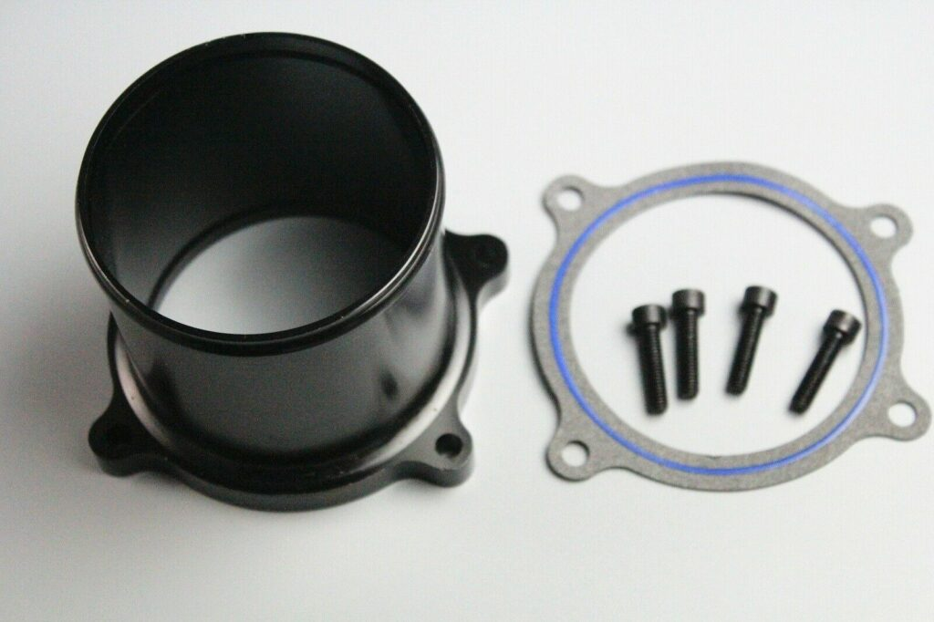 Throttle Valve Delete Kit for 07-17 Dodge Ram 6.7L L6 Cummins Diesel Turbo Black