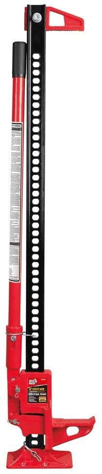 BIG RED TR6501B Torin 48″ Ratcheting Off Road Utility Farm Jack, 3 Ton (6,000 lb) Capacity, Red