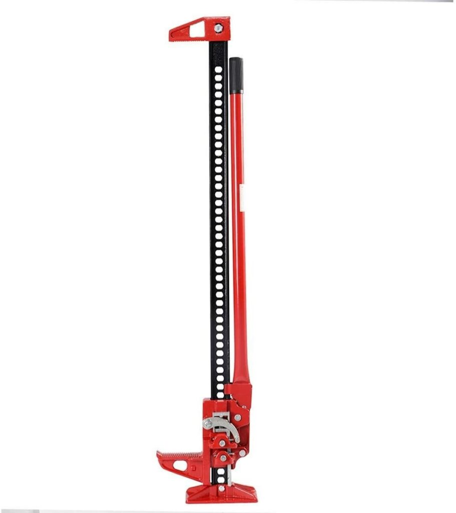 Goplus 48″(3.5 Ton) / 60″(3 Ton) Off Road Ratcheting Farm Jack Truck High Lift Bumper Tractor SUV (48″)