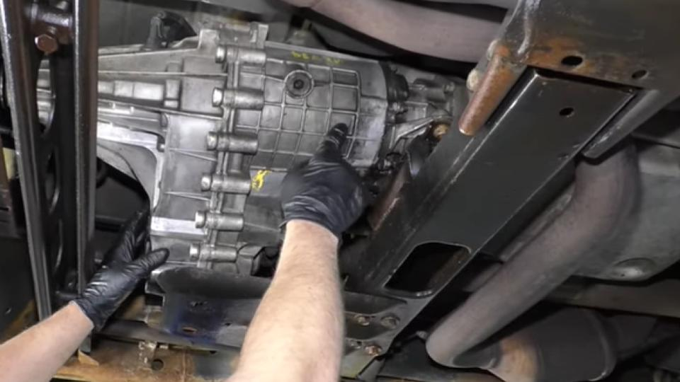 pull out the transfer case