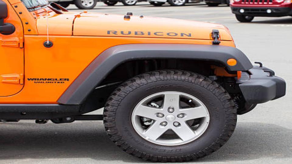 Jeep wrangler front wheel