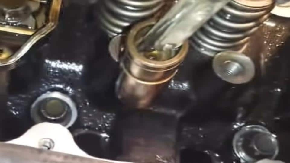 lifter removed from the engine